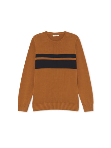 TWOTHIRDS Mens Knit: Paxi - Terracotta front