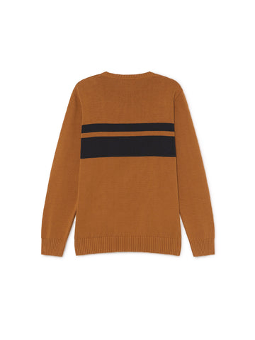 TWOTHIRDS Mens Knit: Paxi - Terracotta back