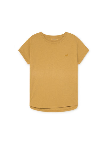TWOTHIRDS Womens Tee: Pianosa - Ochre front