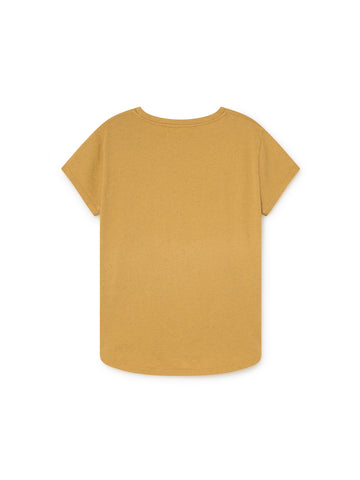 TWOTHIRDS Womens Tee: Pianosa - Ochre back
