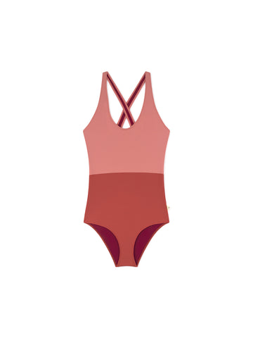 TWOTHIRDS Womens Bathing Suit. Picton - Brick front