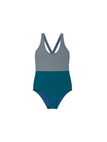 TWOTHIRDS Womens Bathing Suit. Picton - dark green front
