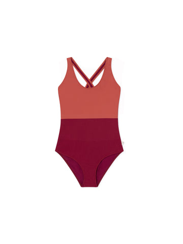 TWOTHIRDS Womens Bathing Suit. Picton - roof front
