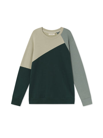 TWOTHIRDS Mens Sweat: Prat - Green front