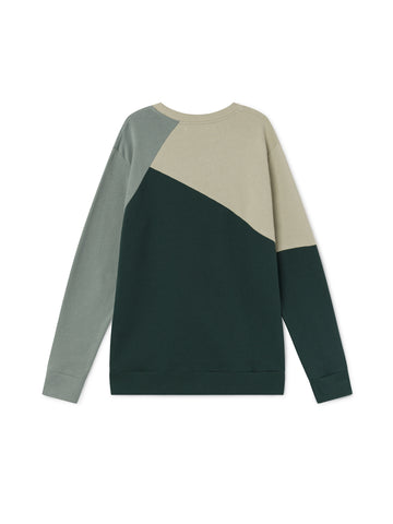 TWOTHIRDS Mens Sweat: Prat - Green back