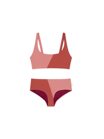 TWOTHIRDS Womens Swimwear: Quenu - Brick front