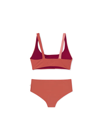 TWOTHIRDS Womens Swimwear: Quenu - Brick back