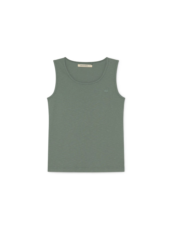 TWOTHIRDS Singlet: Rojas - Washed Green