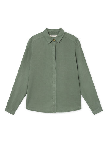 TWOTHIRDS Womens Shirt: Romvi - Washed Green front