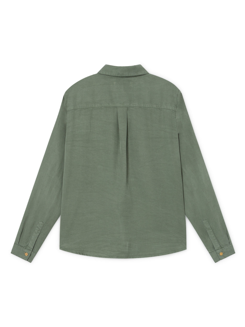 TWOTHIRDS Womens Shirt: Romvi - Washed Green back