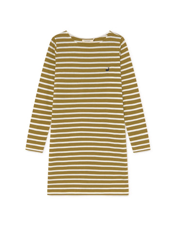 TWOTHIRDS Womens Dress: Saint Martin - Dark Mustard front
