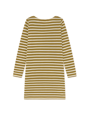 TWOTHIRDS Womens Dress: Saint Martin - Dark Mustard back
