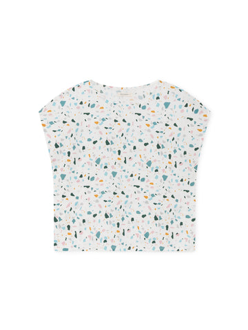 TWOTHIRDS Womens Top: Santa Ines - Terrazo Print front