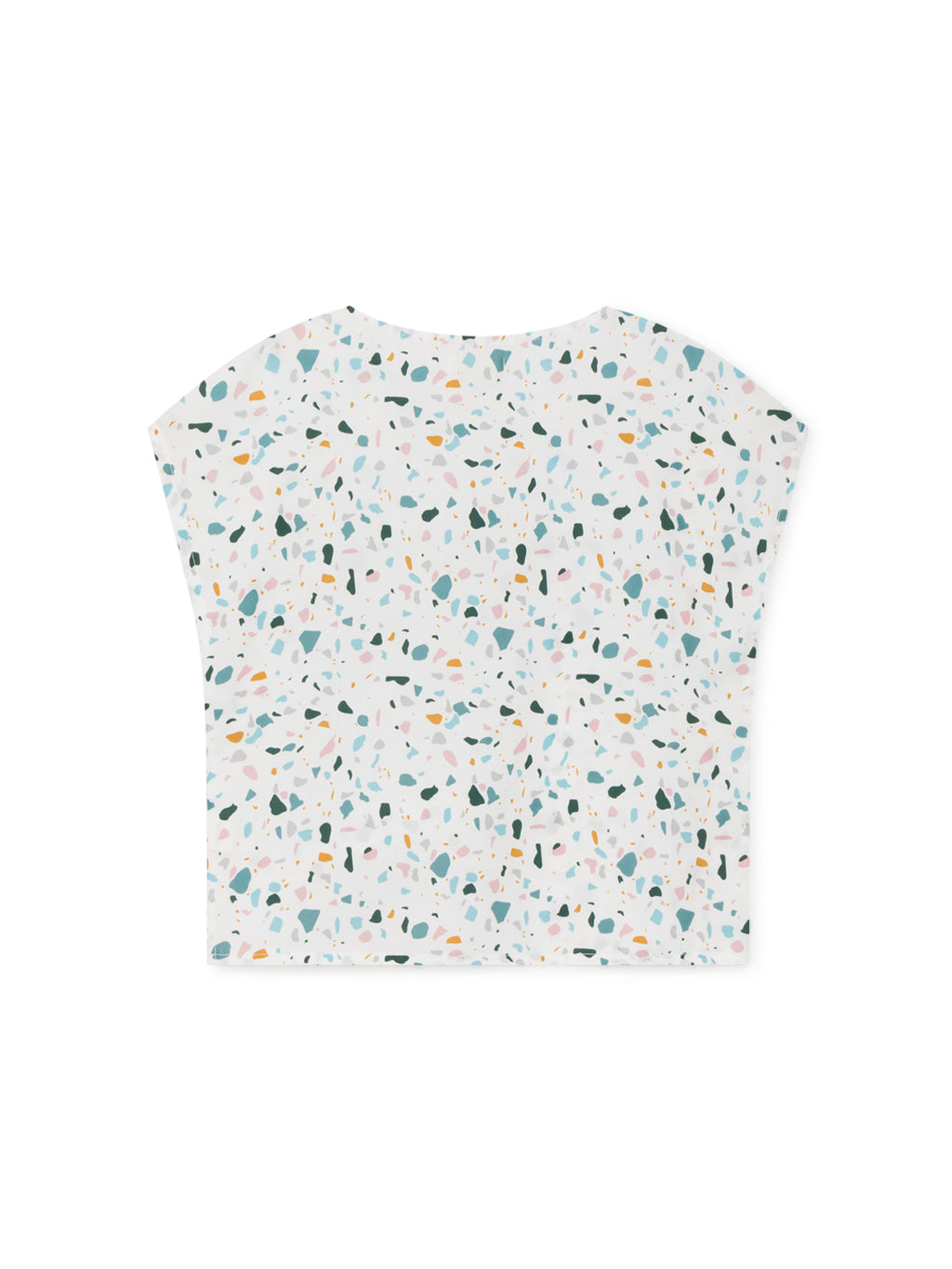 TWOTHIRDS Womens Top: Santa Ines - Terrazo Print back