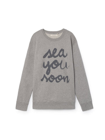 TWOTHIRDS Mens Sweat: Sea You Soon - Grey front