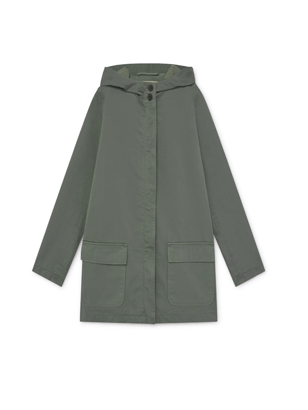 TWOTHIRDS Womens Jacket: Skorpio - Washed Green front