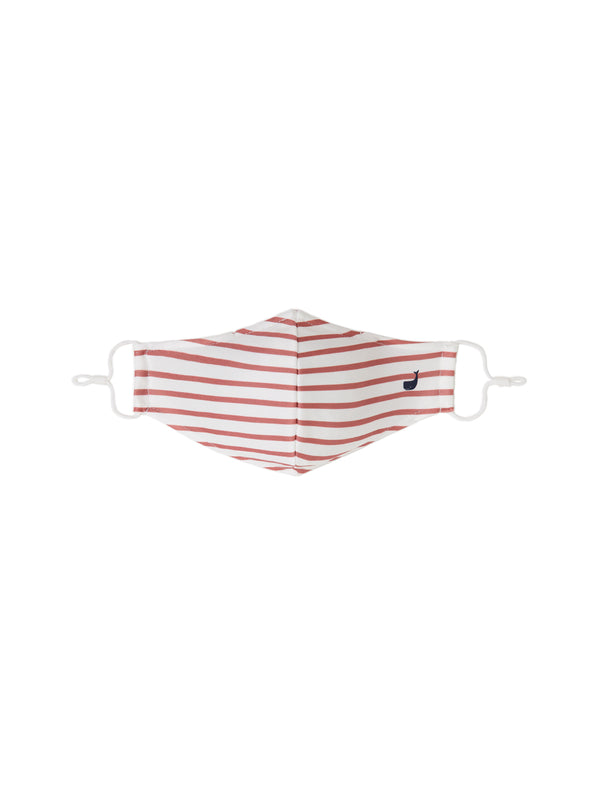 Stripes Mask - Rose and White