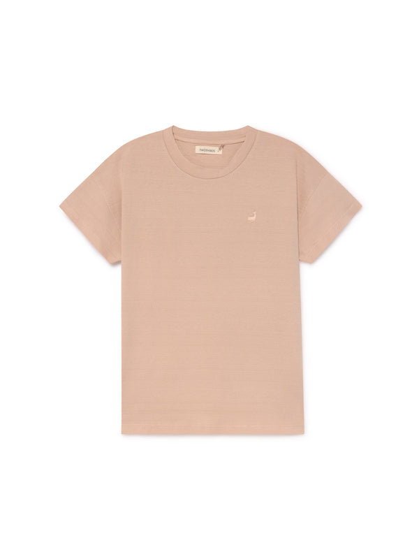TWOTHIRDS Womens Tee: Tahiti - Pale Pink front