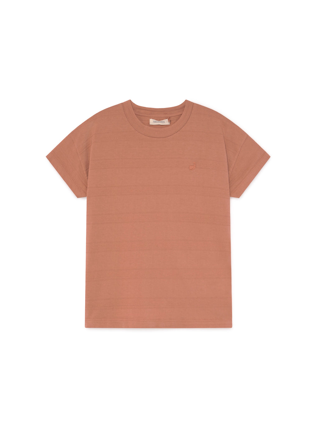 TWOTHIRDS Womens Tee: Tahiti - pale brick. product close up