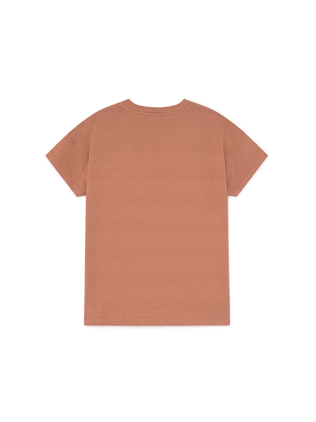 TWOTHIRDS Womens Tee: Tahiti - pale brick. product close up back
