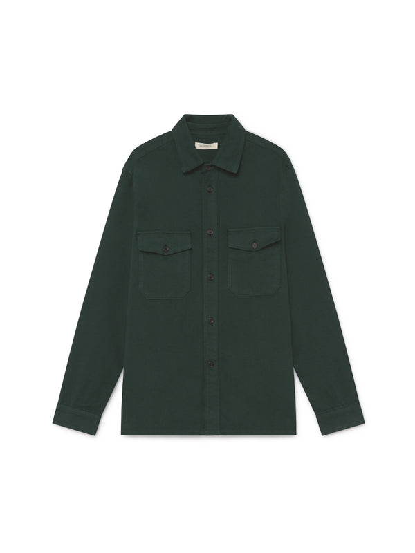 TWOTHIRDS Mens Shirt: Talcan - Dark Green front