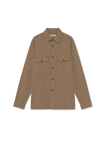 TWOTHIRDS Mens Shirt: Talcan - Pecan front