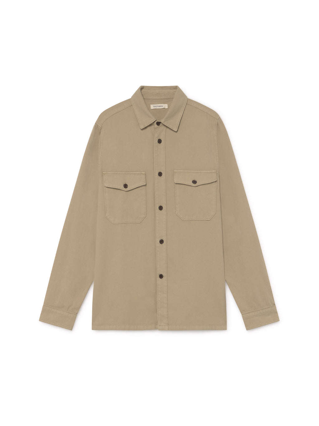 TWOTHIRDS Mens Shirt: Talcan - Stone front