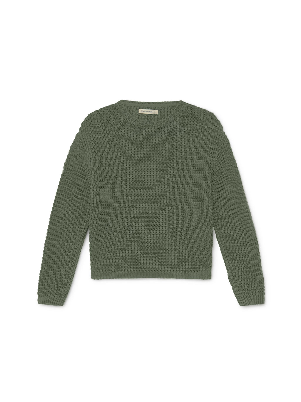 TWOTHIRDS Womens Knit: Teresa - Dusty Green front