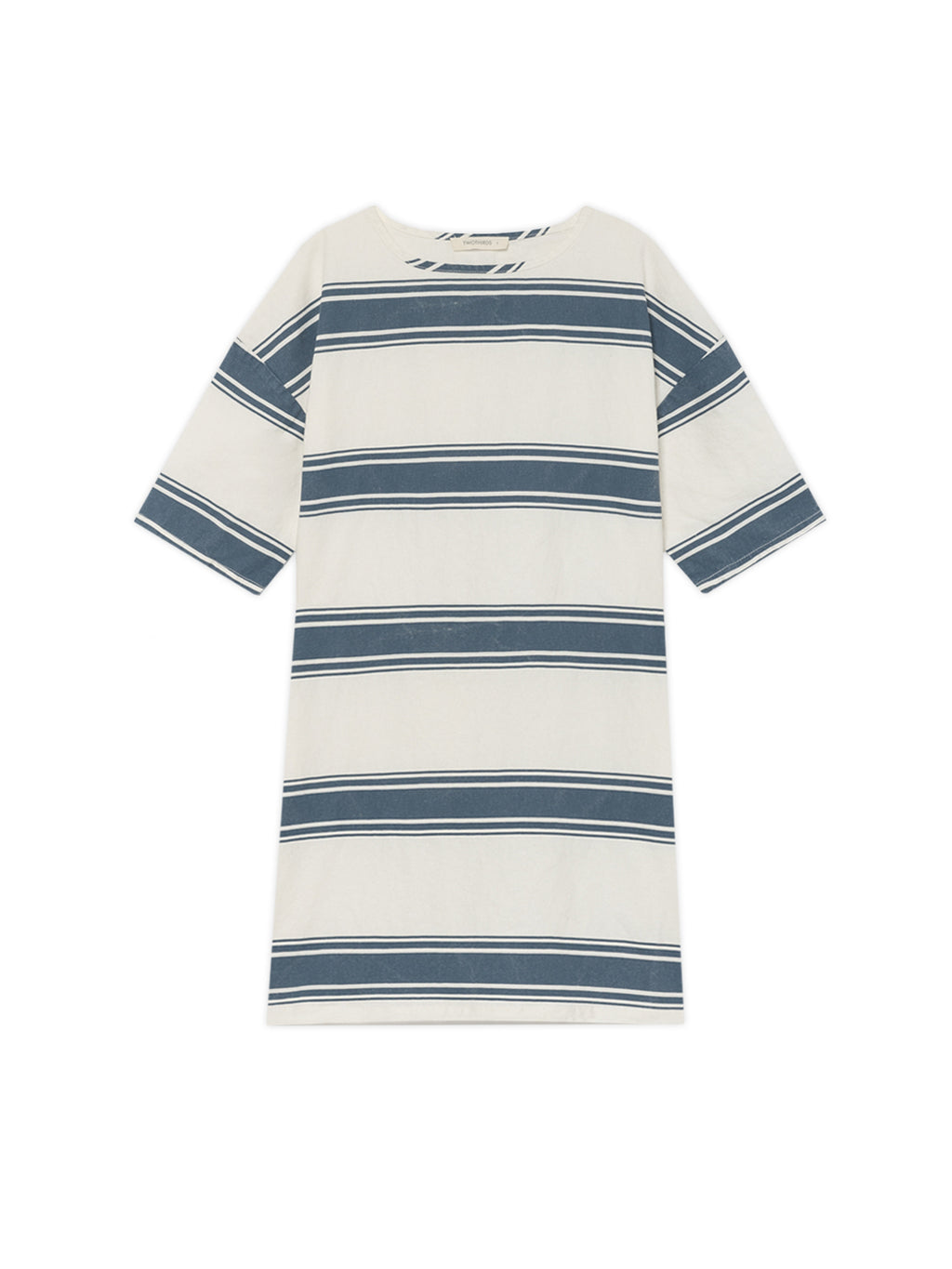 TWOTHIRDS Womens Dress: Tilou - Blue Stripes front