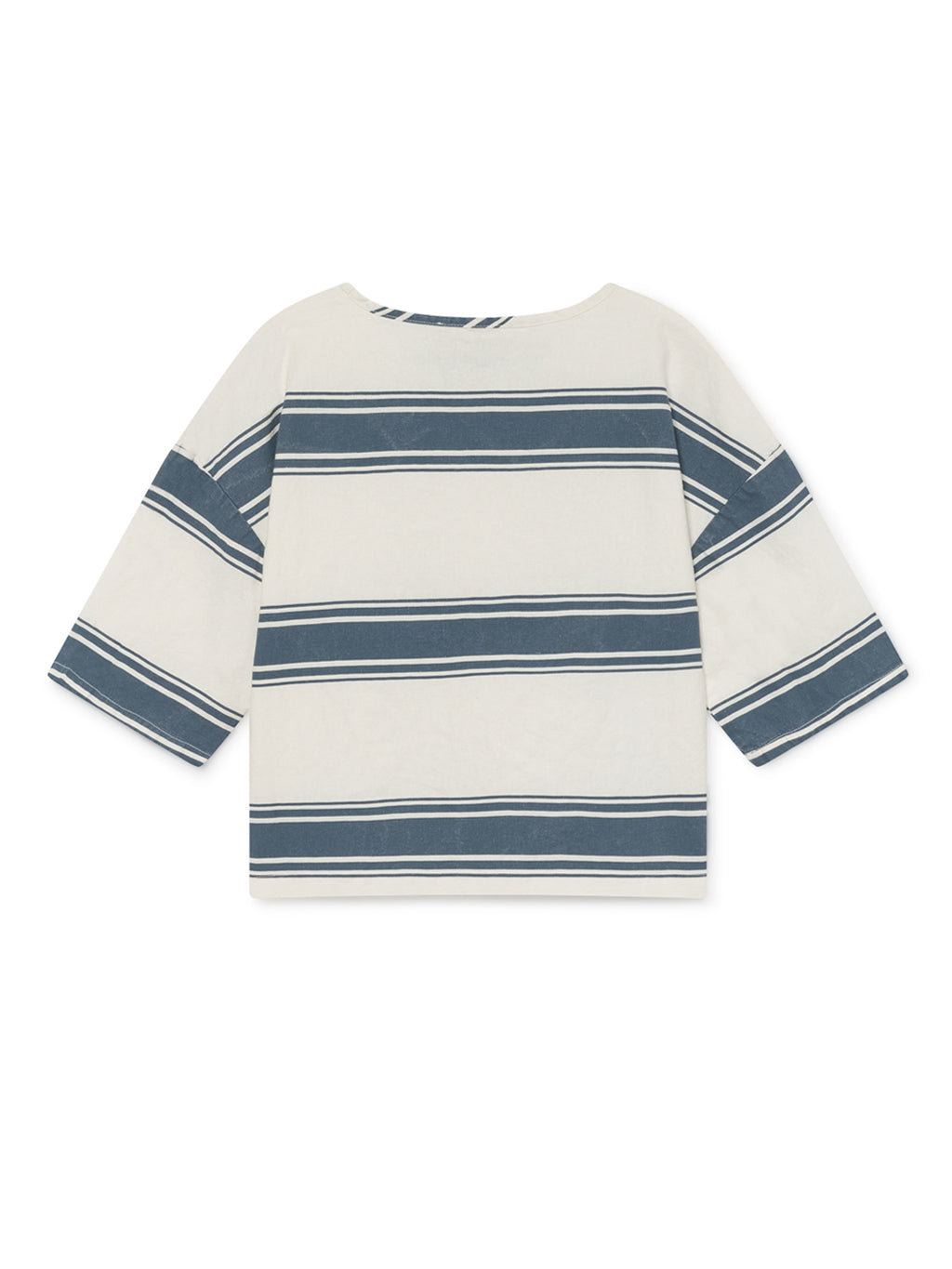 TWOTHIRDS Womens Top: Tilou - Blue Stripes back