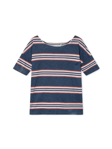 TWOTHIRDS Womens Tee: Toralla - Dusty Blue front