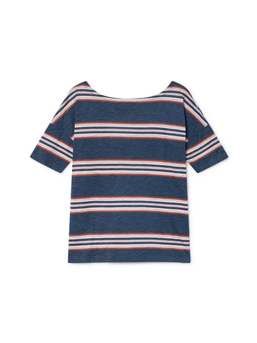 TWOTHIRDS Womens Tee: Toralla - Dusty Blue back