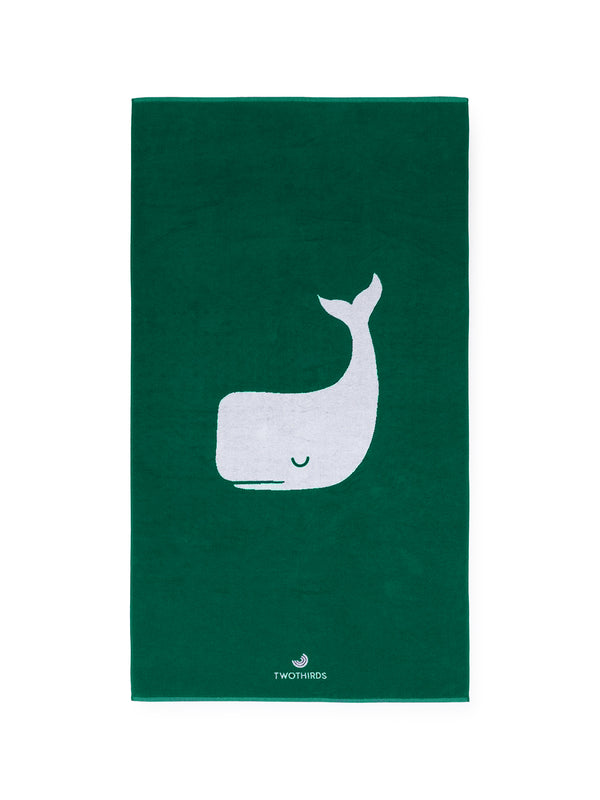 Big Beach Towel Whale - Green