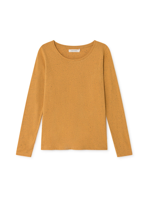 TWOTHIRDS Womens Top: Tubuai - Honey front