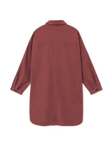 TWOTHIRDS Womens Dress: Vanna - Burgundy back