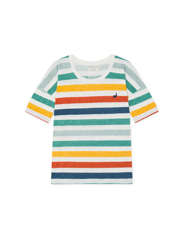 TWOTHIRDS Womens Tee: Vido - Sun Striped front