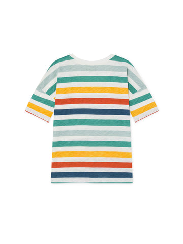 TWOTHIRDS Womens Tee: Vido - Sun Striped back