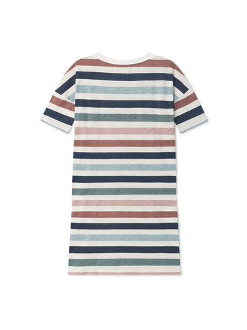 TWOTHIRDS Womens Tee: Vido Dress - Striped back