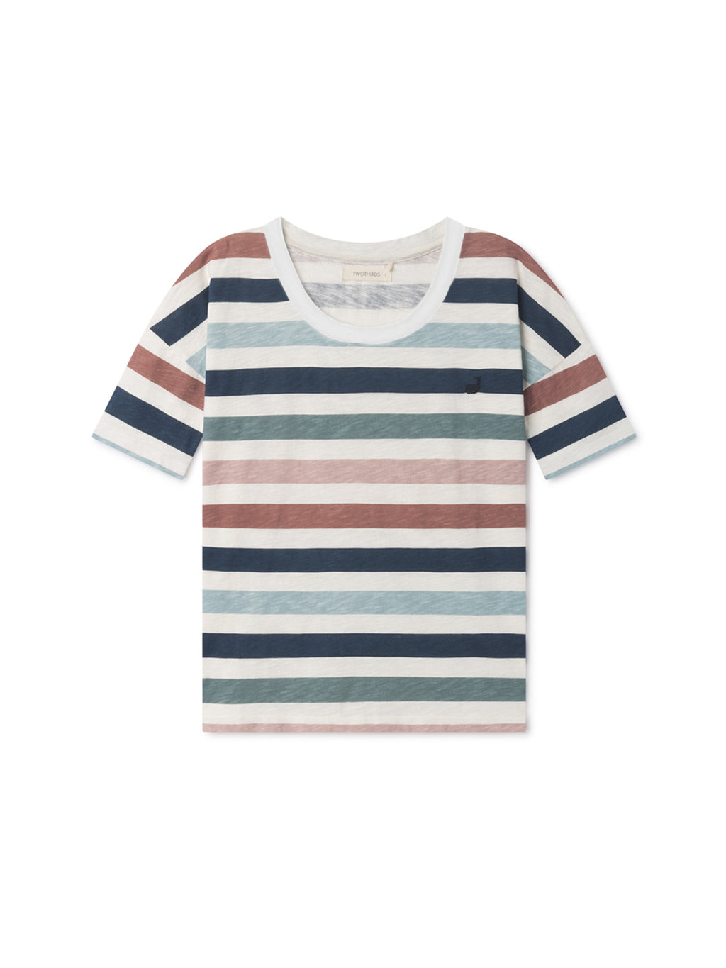 TWOTHIRDS Womens Tee: Vido - Striped front