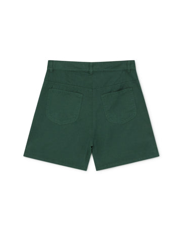 TWOTHIRDS Womens Shorts: Yonaguni - Dark Green back