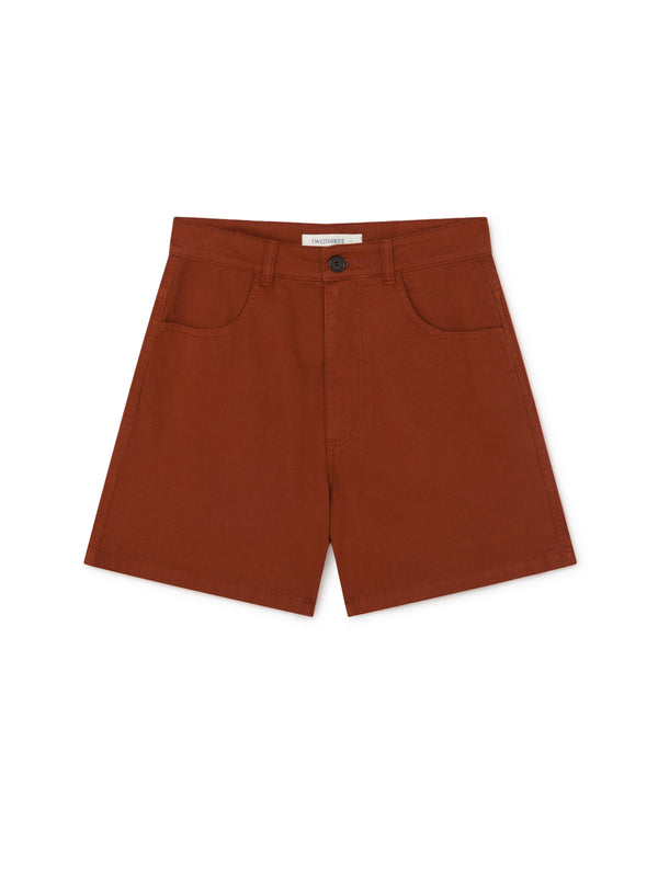 TWOTHIRDS Womens Shorts: Yonaguni - Rood front