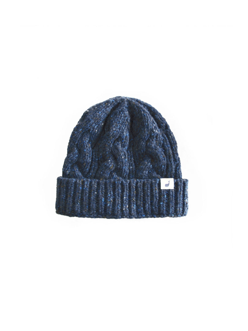 TWOTHIRDS Headwear: Jurmo Cable Beanie - Navy front
