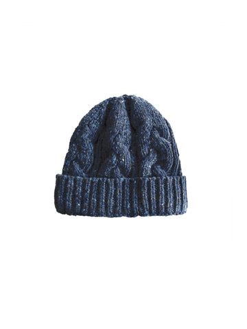 TWOTHIRDS Headwear: Jurmo Cable Beanie - Navy back