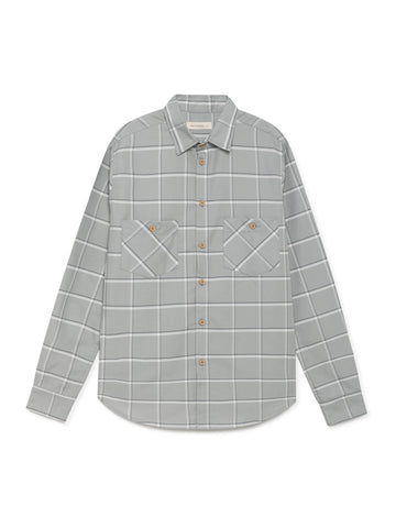 TWOTHIRDS Mens Shirt: Mavras - Wrought Iron front