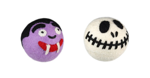 Wooly-Wonkz-Halloween-Dog-Toys-Dracula-And-Skeleton-Balls