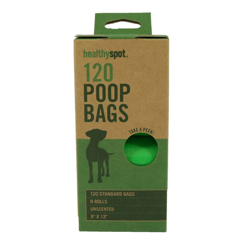 Healthy Spot Poop Bags - 8 Roll Unscented