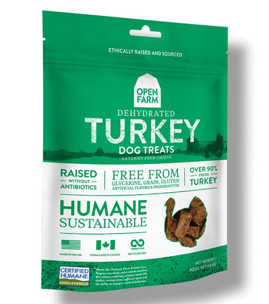 Open Farm Dehydrated Turkey Dog Treats