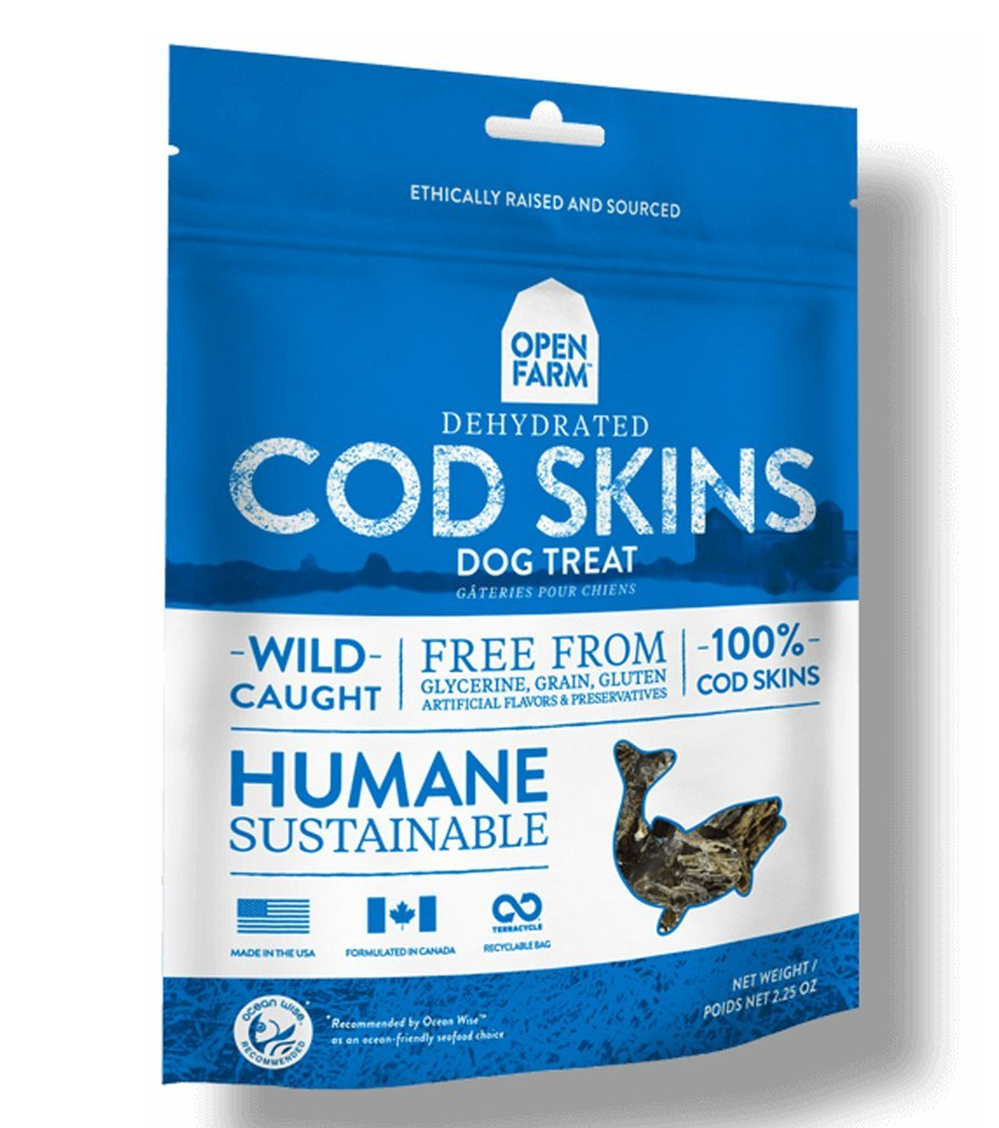 Open Farm Dehydrated Cod Skin Dog Treats