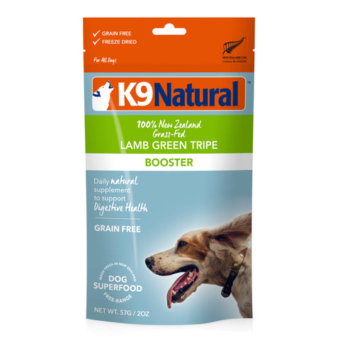 K9 Natural Lamb Green Tripe Freeze-Dried Booster Dog Food Topper