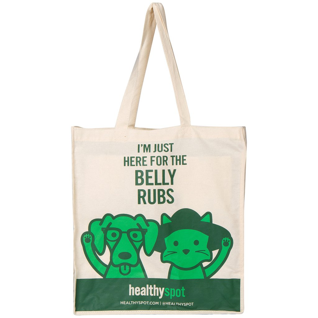 Healthy Spot Cotton Canvas Tote Bag